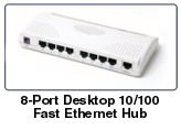 8-Port 10/100Mbps Desktop